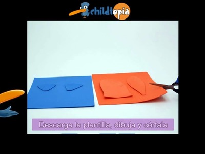 Pájaro. Manualidades infantiles, manualidades con foamy y esponjas
