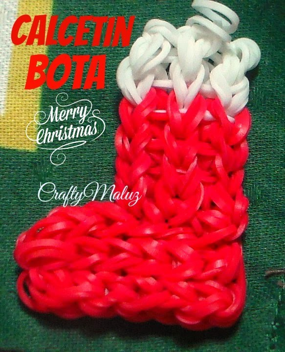 Tutoriales:Como hacer un Calcetín. Bota de Navidad (con telar) Rainbow Loom