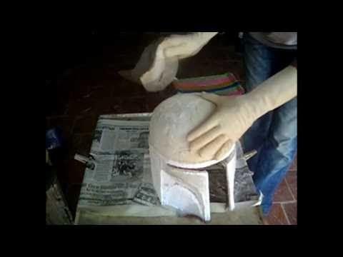 Casco Boba Fett Proyecto con pepakura y fibra de vidrio. Boba Fett helmet.
