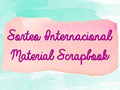 CERRADO Sorteo internacional material scrapbook