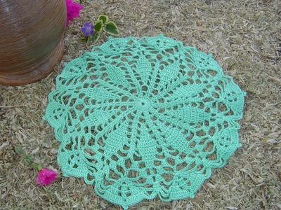 Como hacer tapete a crochet Paso a Paso parte 1.3
