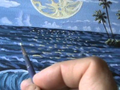 ¿Cómo pintar la luna 15 utilizando pintura acrílica sobre tela