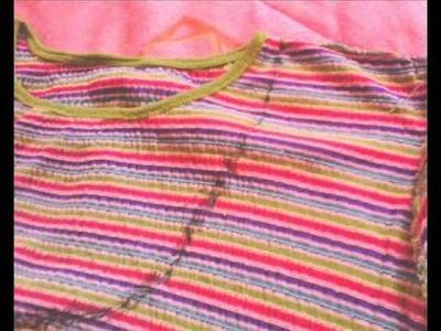 Como reciclar una blusa o camisa en gorro o boina
