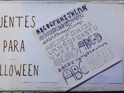 Crea tus propias fuentes para Halloween (Manualidades con Letras terroríficas)