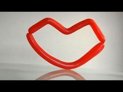 Decoración con globos, unos labios