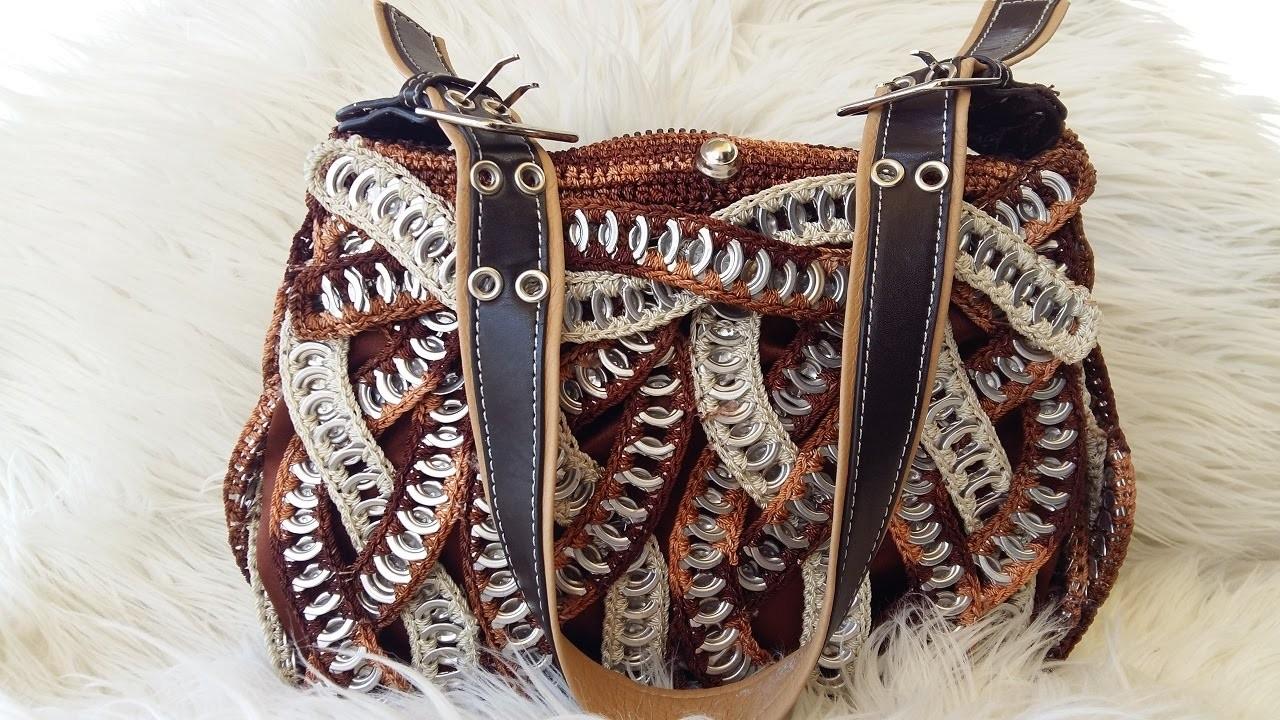 #DY# Como hacer una bolsa con anillas de lata: Bolsa