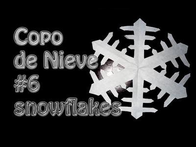 Kirigami como hacer un copo de Nieve de papel # 6--snowflakes --DIY