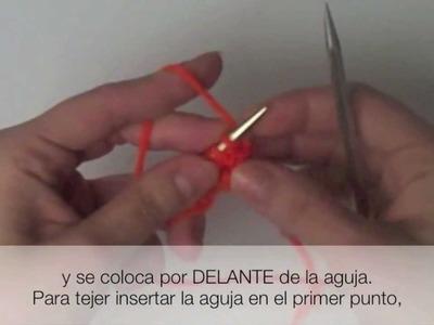 Tejer Punto Revés Estilo Continental. Purl Continental Method