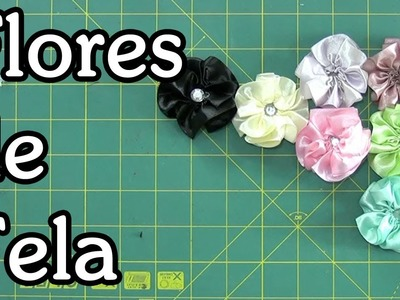 Tutorial flores de tela - Fabric flowers