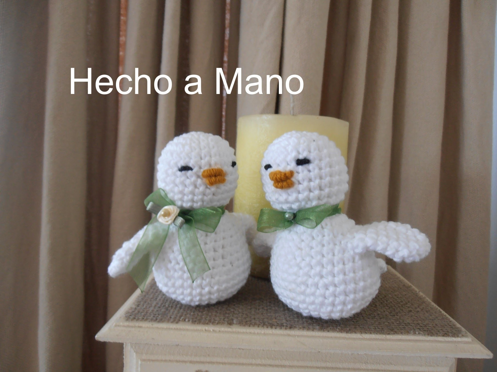 Amigurumi: Como hacer pajarito a crochet. Parte 2