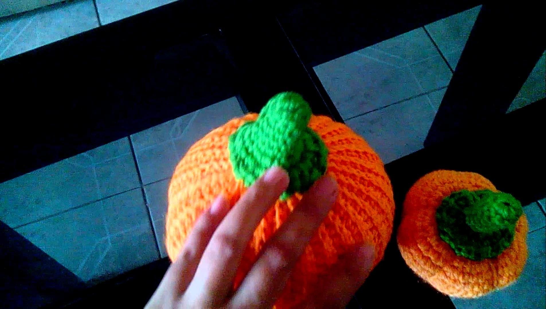 Calabazas a crochet amigurumi
