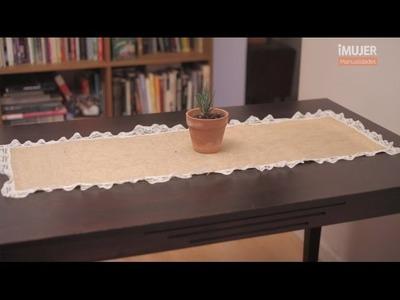 Cómo hacer un sendero de arpillera