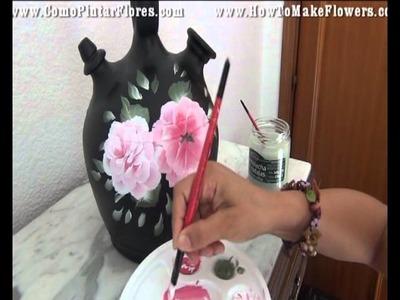 Como pintar flores paso a paso  fácil  y rápido   parte 2