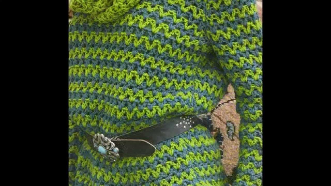 Como Tejer Jersey bicolor con loop a crochet