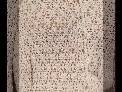Como Tejer suéter Veraniego  Calado a crochet