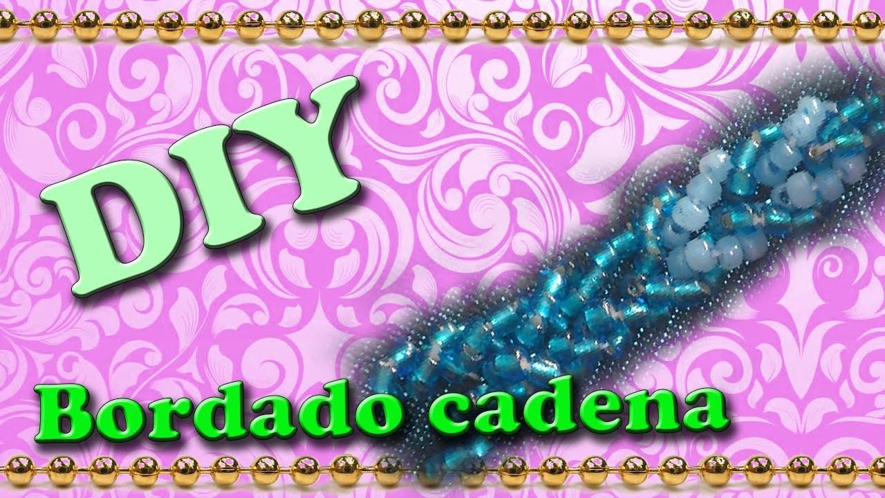 DIY- Bordados con abalorios (Cadena)