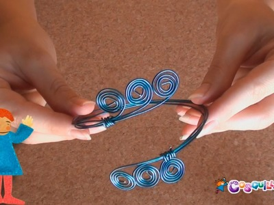 DIY Manualidades: Brazalete - Pulsera de alambre