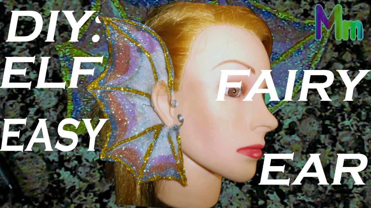 DIY: OREJAS DE ELFO, HADA FÁCIL. ELF OR FAIRY EASY EAR