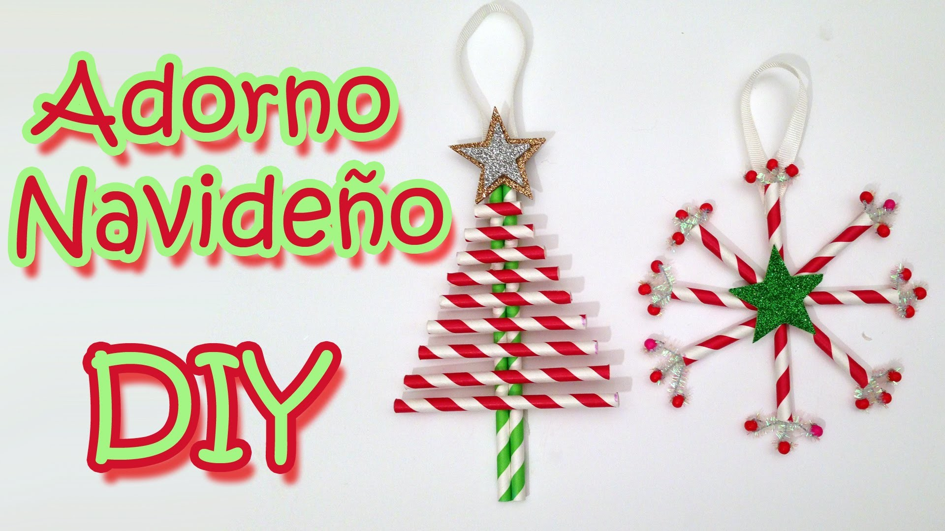 Manualidades de Navidad - 2 Adornos navideños -Christmas decorations  Manualidades para todos