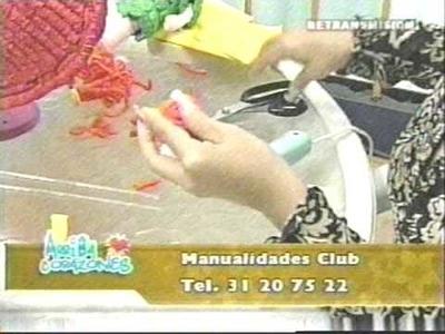 Papel Crepé Corrugado muñeca