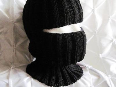 Pasamontañas tejidos en crochet y dos agujas ( imagenes )