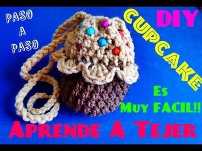 Tejer Monedero CupCake !!!  La Manera  MAs Facil de Tejer l!!