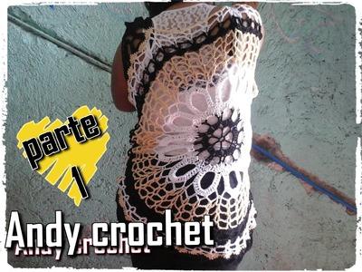 BLUSA CALADA EN CROCHET ( PARTE 1 DE 4 )Andy crochet