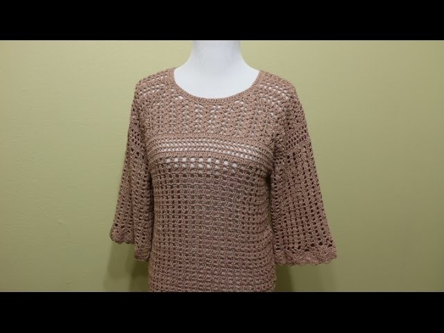 Blusa Crochet 4 Piezas parte 1de 4