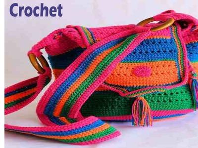 Bolsos Juveniles Tejidos en Crochet Ganchillo - Imagenes Diseños