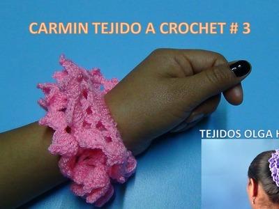 Carmin tejido a crochet paso a paso modelo # 3