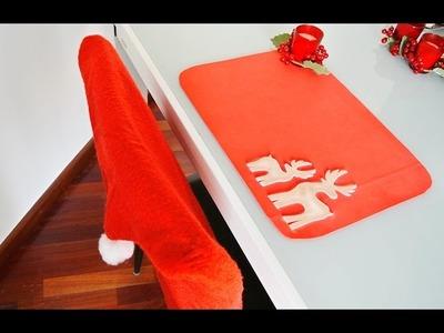 Como hacer unos individuales navideños facil