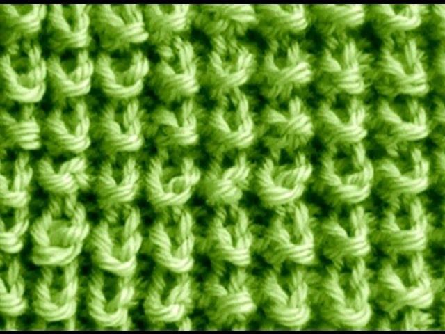 Como Tejer Punto Trigo-Seed Stitch Knitting 2 Agujas (272)