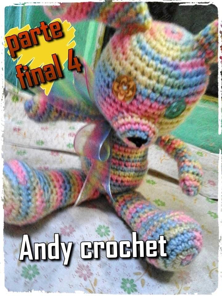 CONEJO AMIGURUMI COLA Y BOCA ( PARTE FINAL 4 )Andy crochet