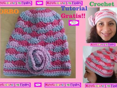 """Crochet Tutorial Gorro Caído """"Ykita"""" Slouchy por Maricita Colours"""