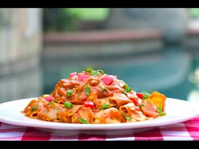 Espagueti de Calabaza a la Bolañesa! (Crudivegano)