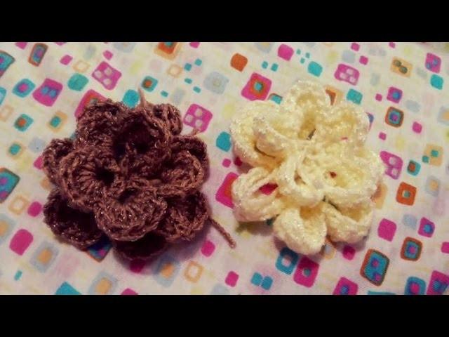 Flor a gancho.crochet facilisima