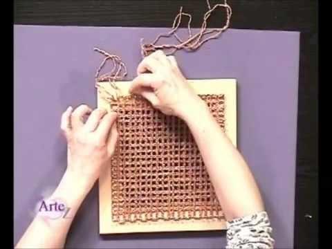 Hilados LHO & ARTEZ TV. Como tejer un chal en telar cuadrado.