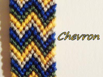 Pulsera de Hilo:Doble Chevron