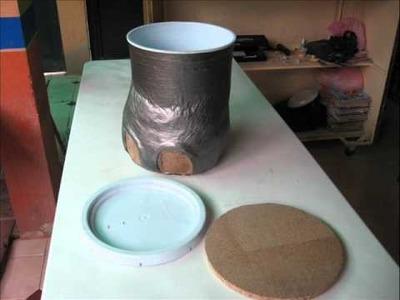 Reciclar una cubeta de pastico de 19 litros en un bonito taburete