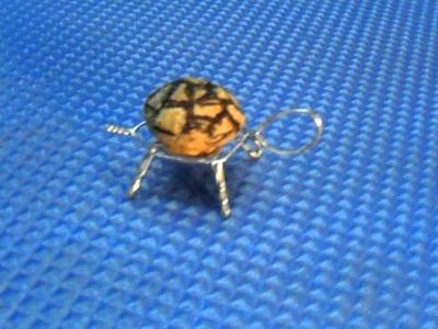 Tortuga hecha de un tapón de cava