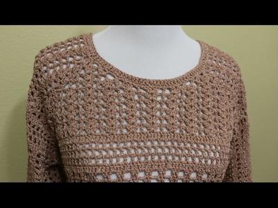 Blusa Crochet 4 Piezas parte 4 de 4