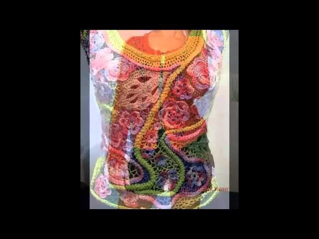 Blusas con flores tejidas a crochet