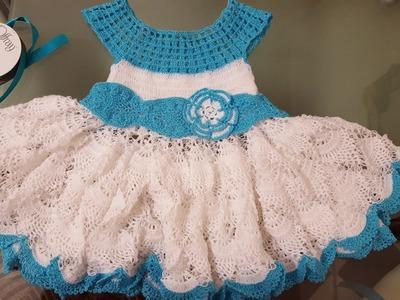 Como tejer vestido en crochet para niñas #2
