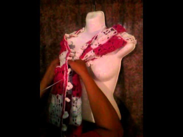 Cuello, capa, chalina a crochet de bella flor Tejiendo con Patita