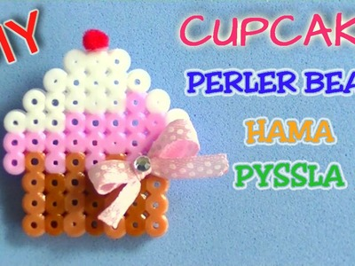 Cupcake perler beads, hama beads, pyssla DIY