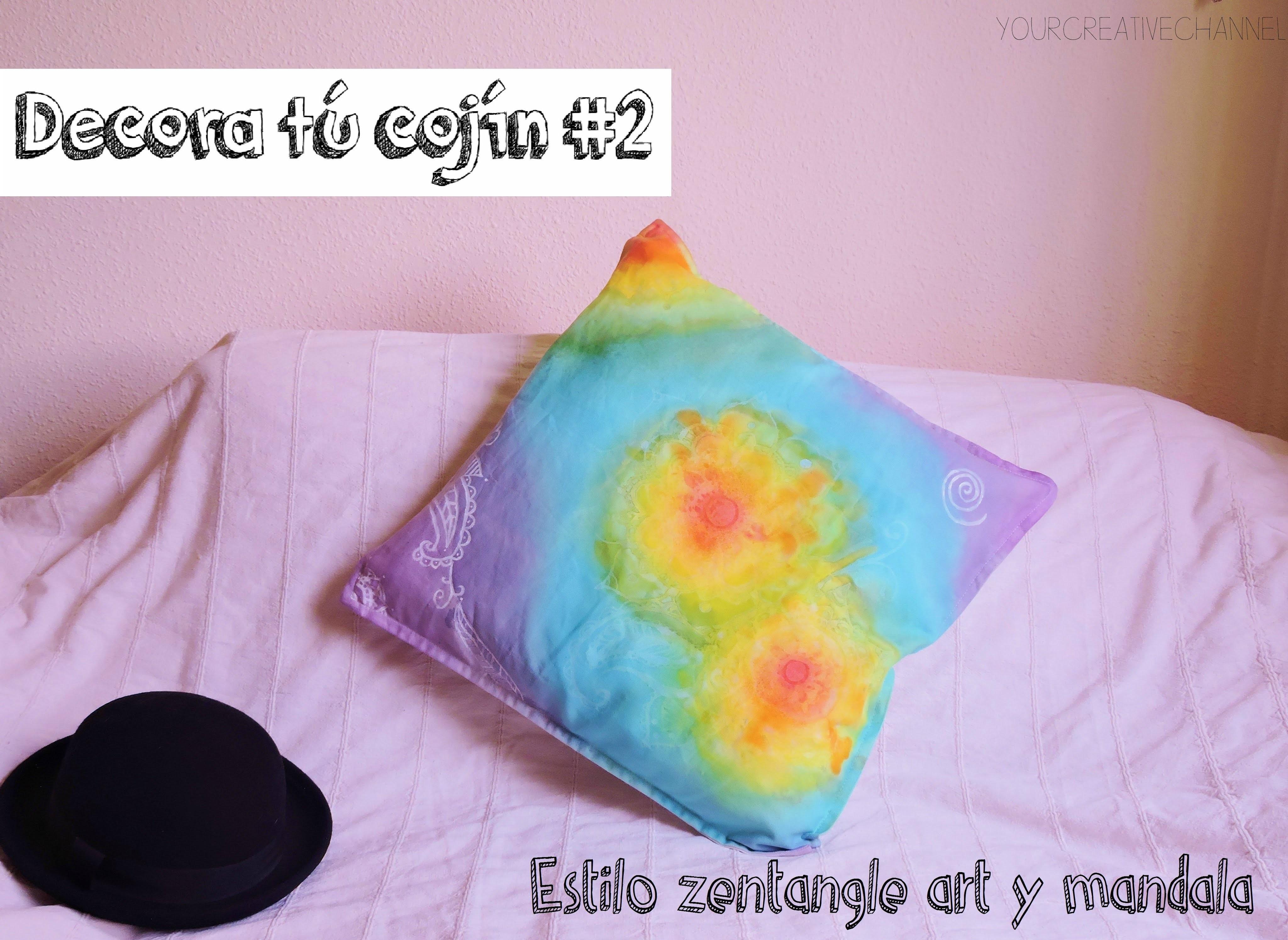 DIY Decora un cojín estilo Zentangle art y mandala - Decor a Zentangle art and mandala style pillow