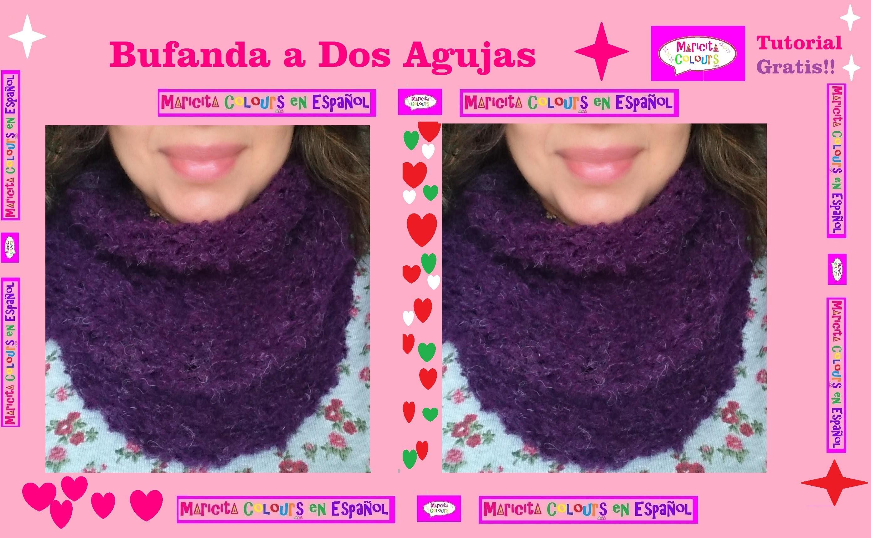 """Dos Agujas Bufanda Infinita """"Trifina"""".Collar (Parte 1) por Maricita Colours"""