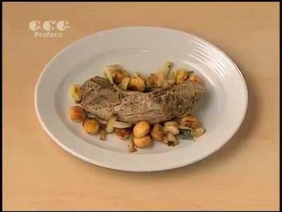 Filete de cerdo al horno con romero y laurel [