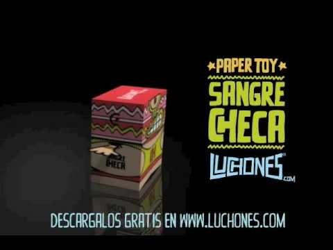 """Free papertoys """"sangre checa"""" luchones.com"""