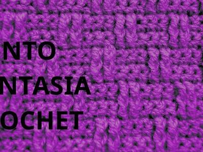 Punto Fantasia N° 58 en tejido crochet tutorial paso a paso.